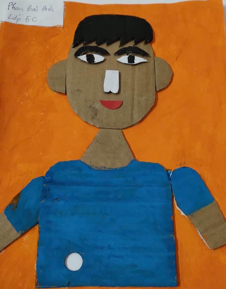 Những tác phẩm 'Chân dung tự họa' của học sinh lớp 5 - Đam mê và sáng tạo