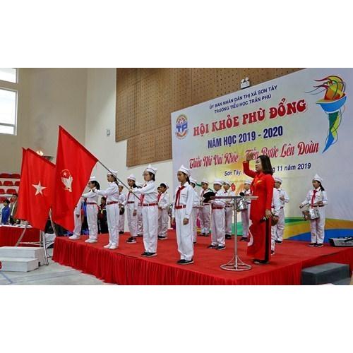 Tưng bừng Hội khỏe Phù Đổng của Trường TH Trần Phú