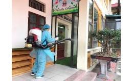 Lần 2 phun thuốc khử trùng phòng chống dịch bệnh viêm đường hô hấp cấp do nCoV gây nên tại trường TH Trần Phú.