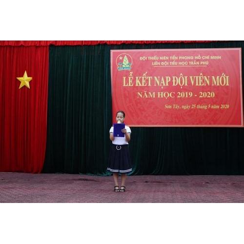 Niềm tự hào và vinh dự khi em đã trở thành đội viên của Đội Thiếu niên Tiền phong Hồ Chí Minh.