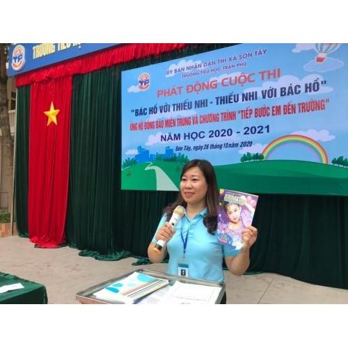 Phát động cuộc thi 'Bác Hồ với thiếu nhi -Thiếu nhi với Bác Hồ' - Ủng hộ đồng bào Miền Trung và chương trình 'Tiếp bước em đến trường'